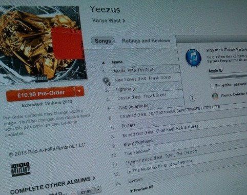 Kanye West Yeezy Album Track List
